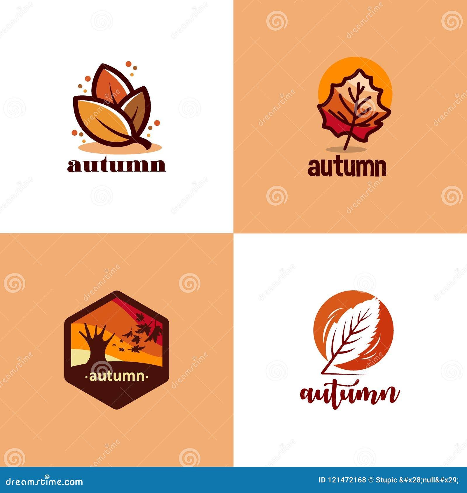 Creative Autumn Logo Design Vector Art Logo Stock