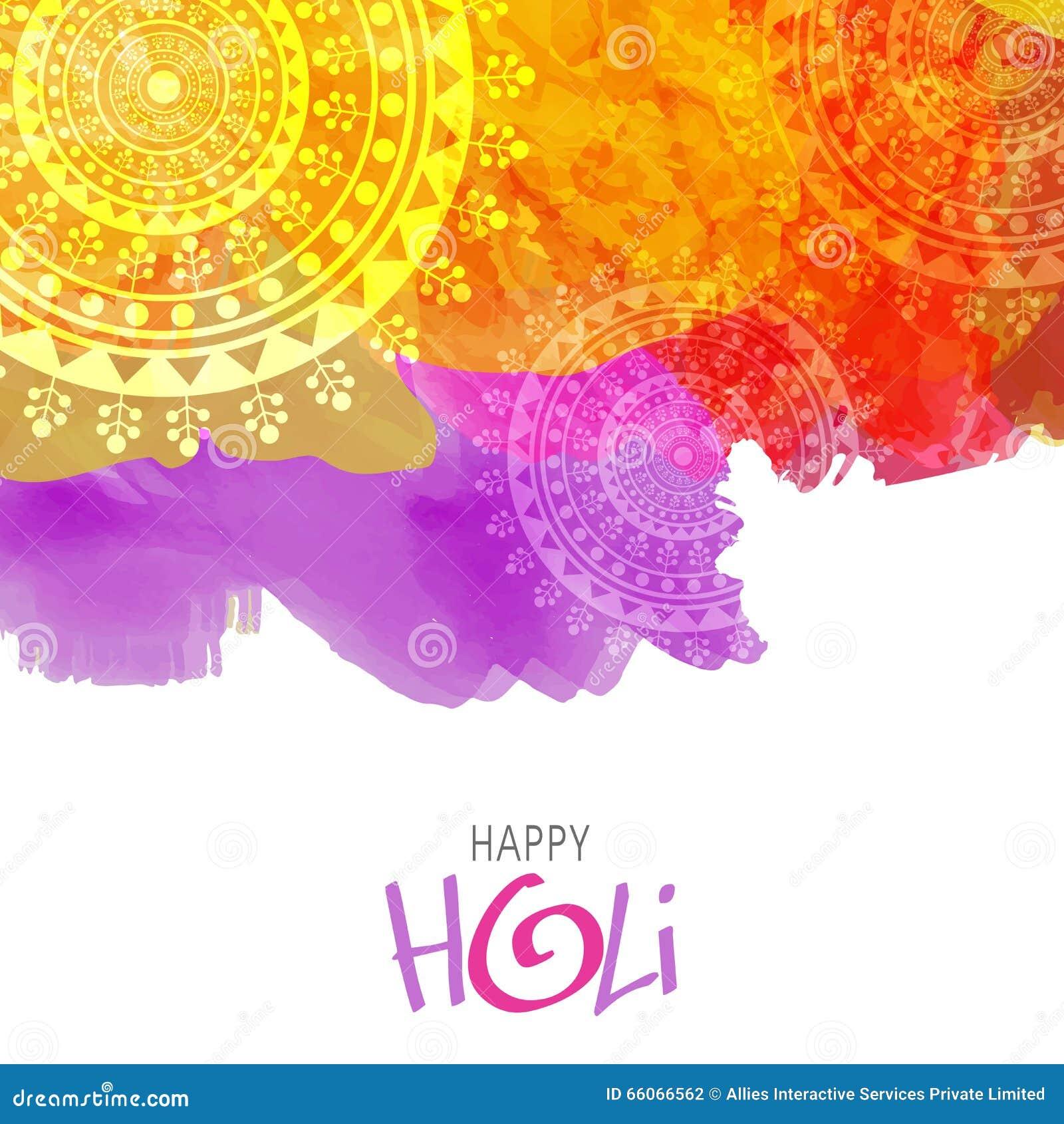 creative background for holi festival celebration stock