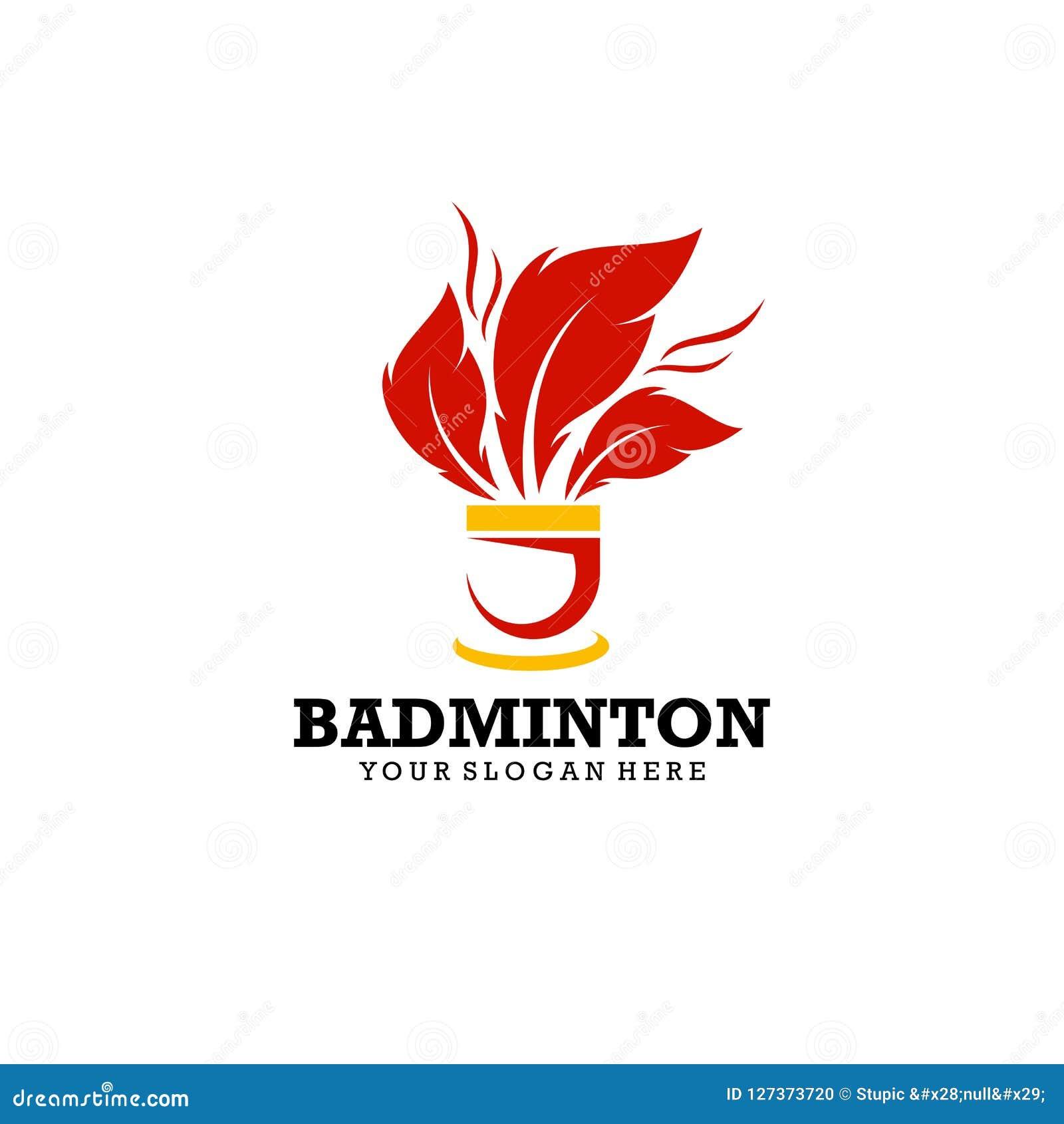 Creative Badminton Logo Design Vector Art Logo Stock