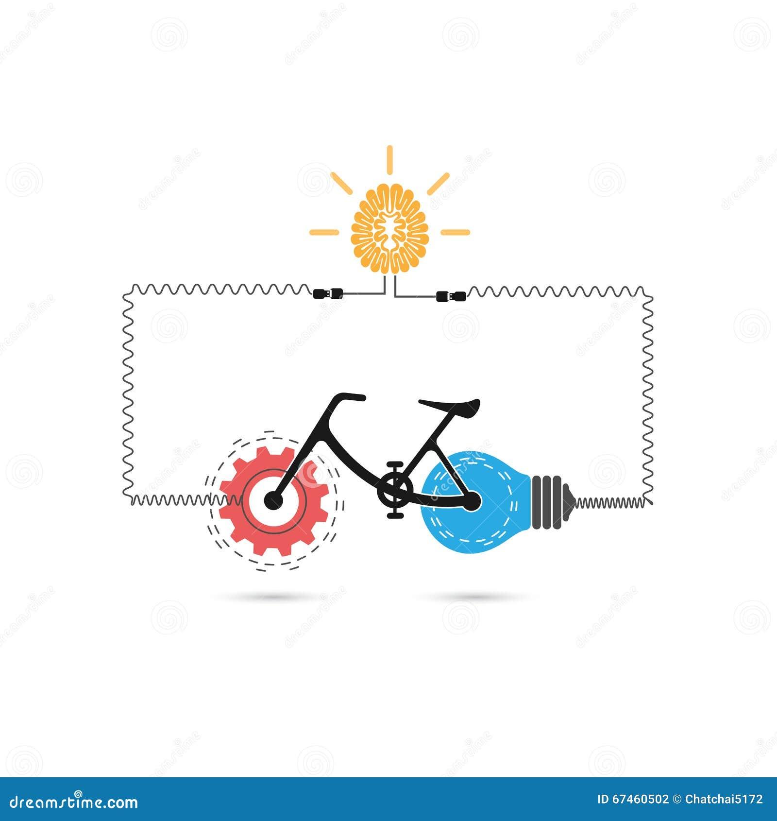 Creative Book Design Vector : Creative bicycle icon vector design stock image