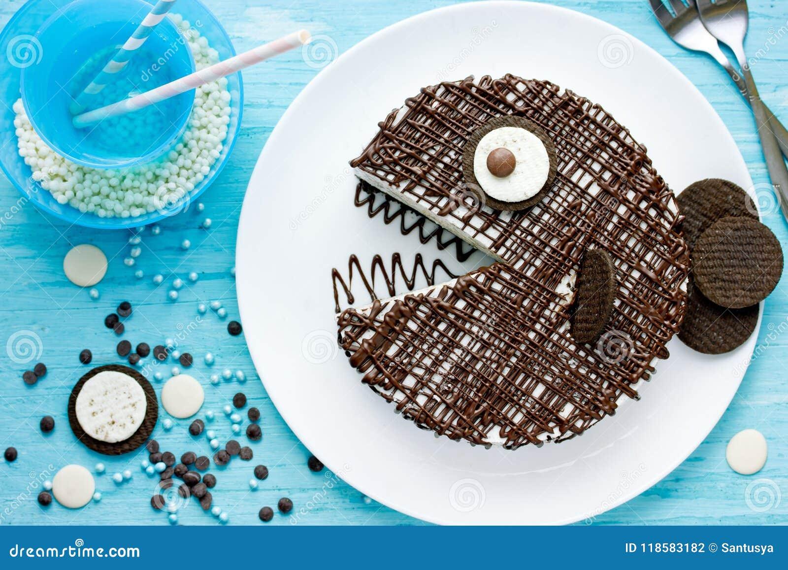 Groovy Creative Birthday Cake For Kids Chocolate Fish Cake Stock Photo Funny Birthday Cards Online Overcheapnameinfo