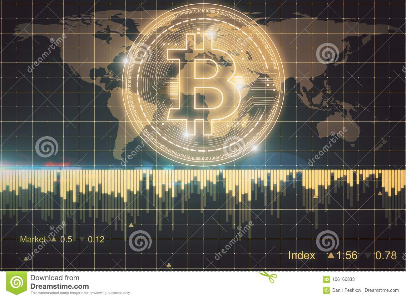 Creative Forex Bitcoin Wallpaper Stock Illustration Illustration Of Infograph Economy 106166833