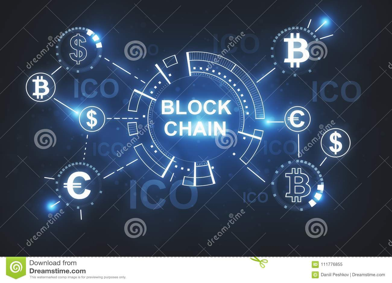 Creative blockchain wallpaper