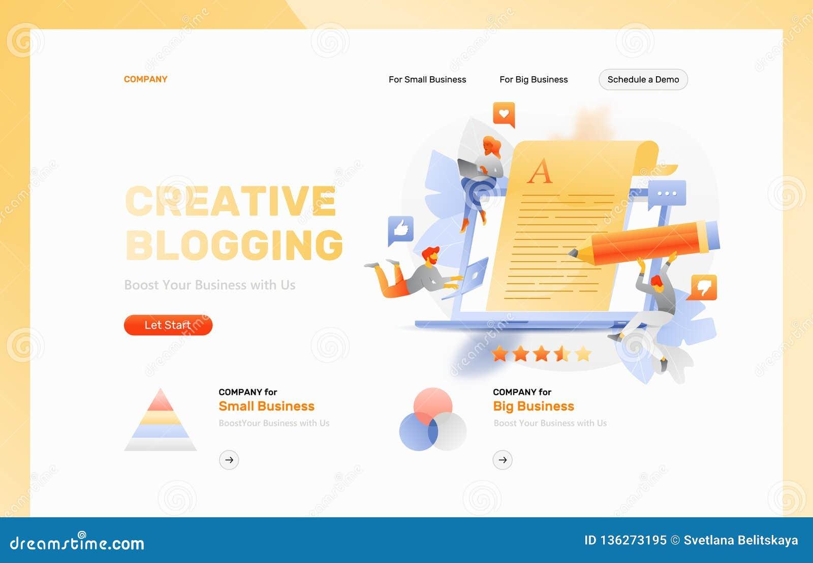 Creative Blogging Web Page Header