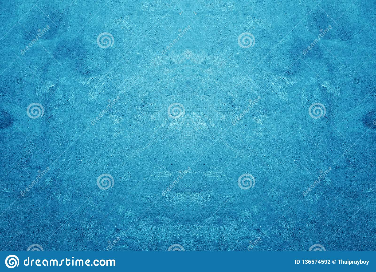 Creative Blue Color Rough and Grunge Concrete Texture Background