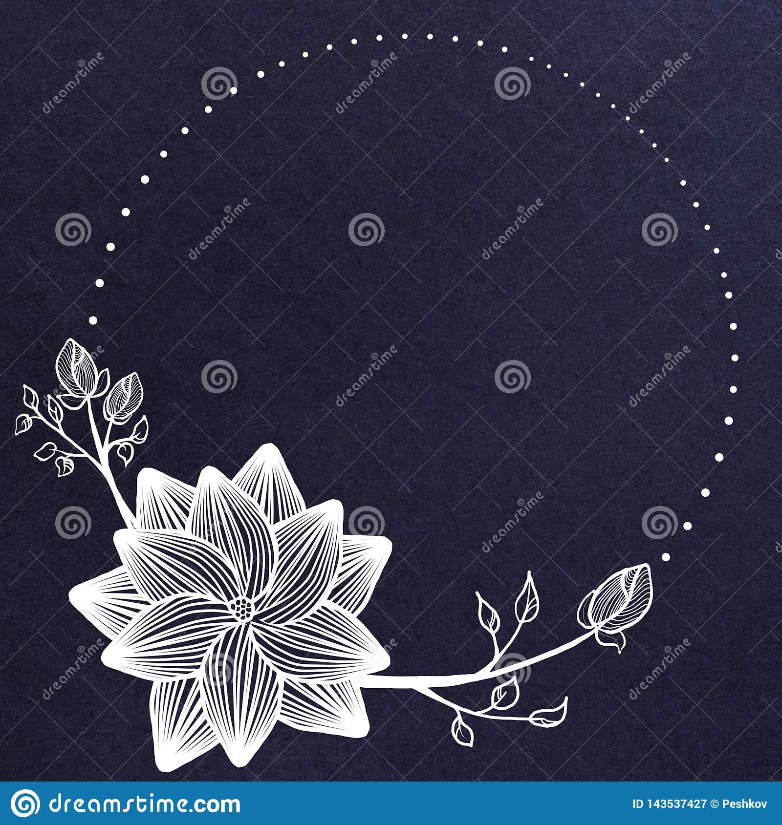 Creative blue floral banner