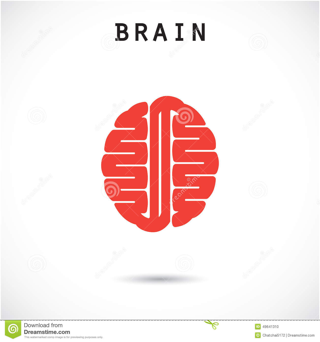 Creative Brain Abstract Vector Logo Design Template. Stock ...