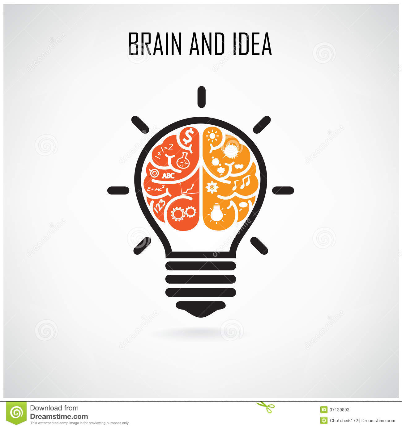 creative brain idea illustration 37139893 megapixl - Idea Design
