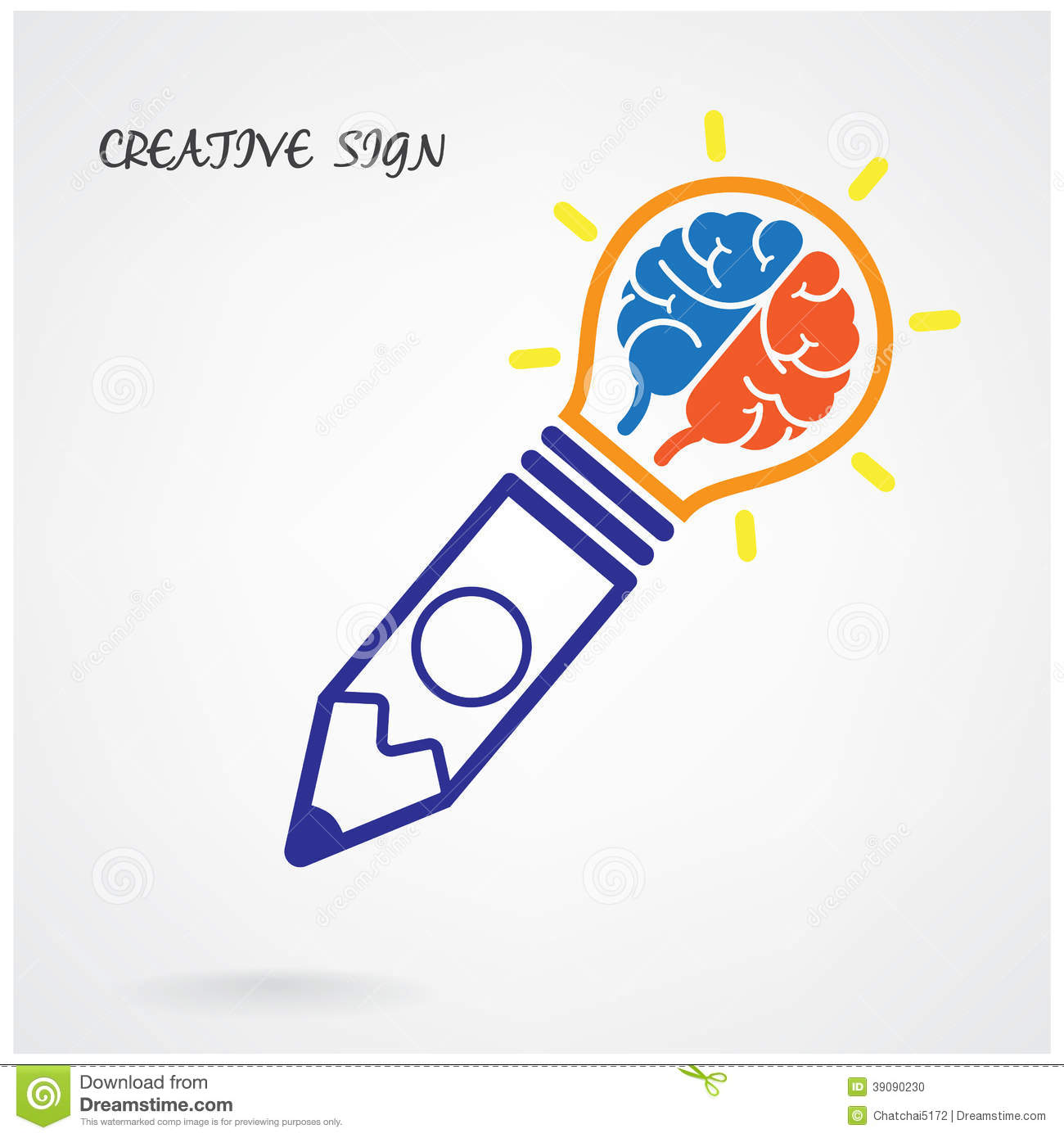 Creative brain Idea concept background design for poster flyer cover ...