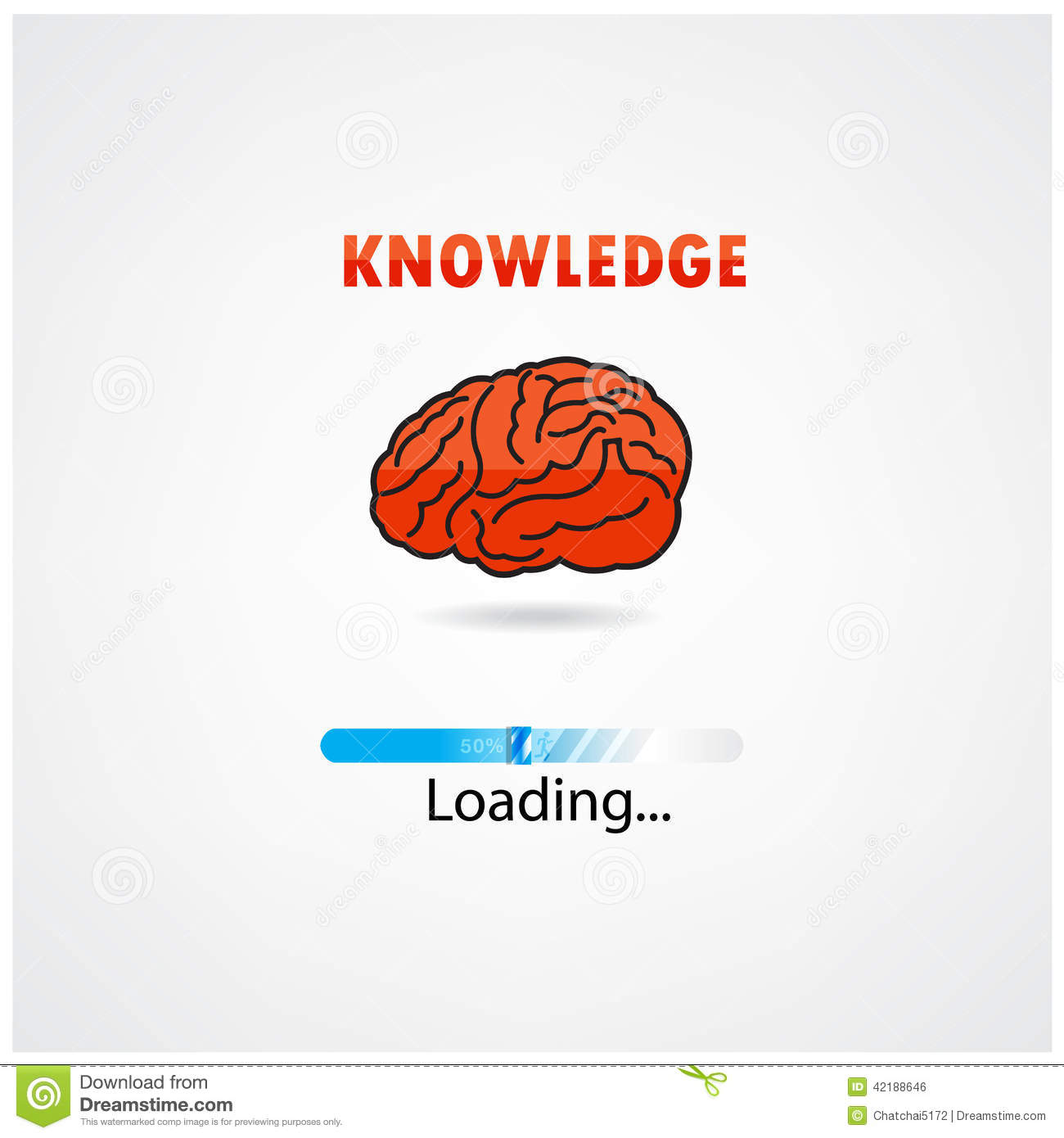 Creative Brain Loading,education Concept. Stock Vector ...