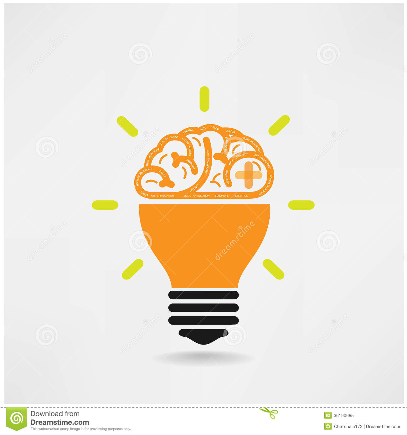 Creative Brain Symbol,creativity Sign,business Sym Stock ...