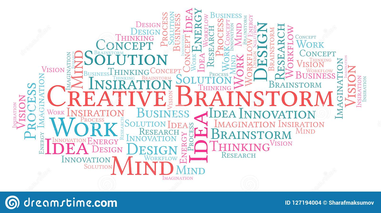 Creative Brainstorm word cloud, made with text only.