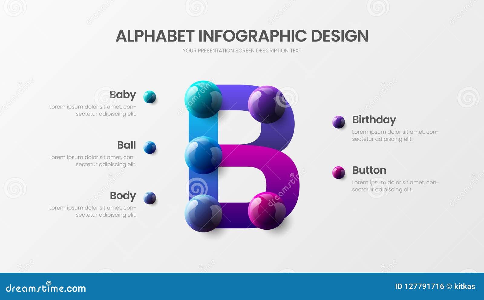 Creative bright multicolor character design illustration layout. Modern art B symbol graphics visualization template.