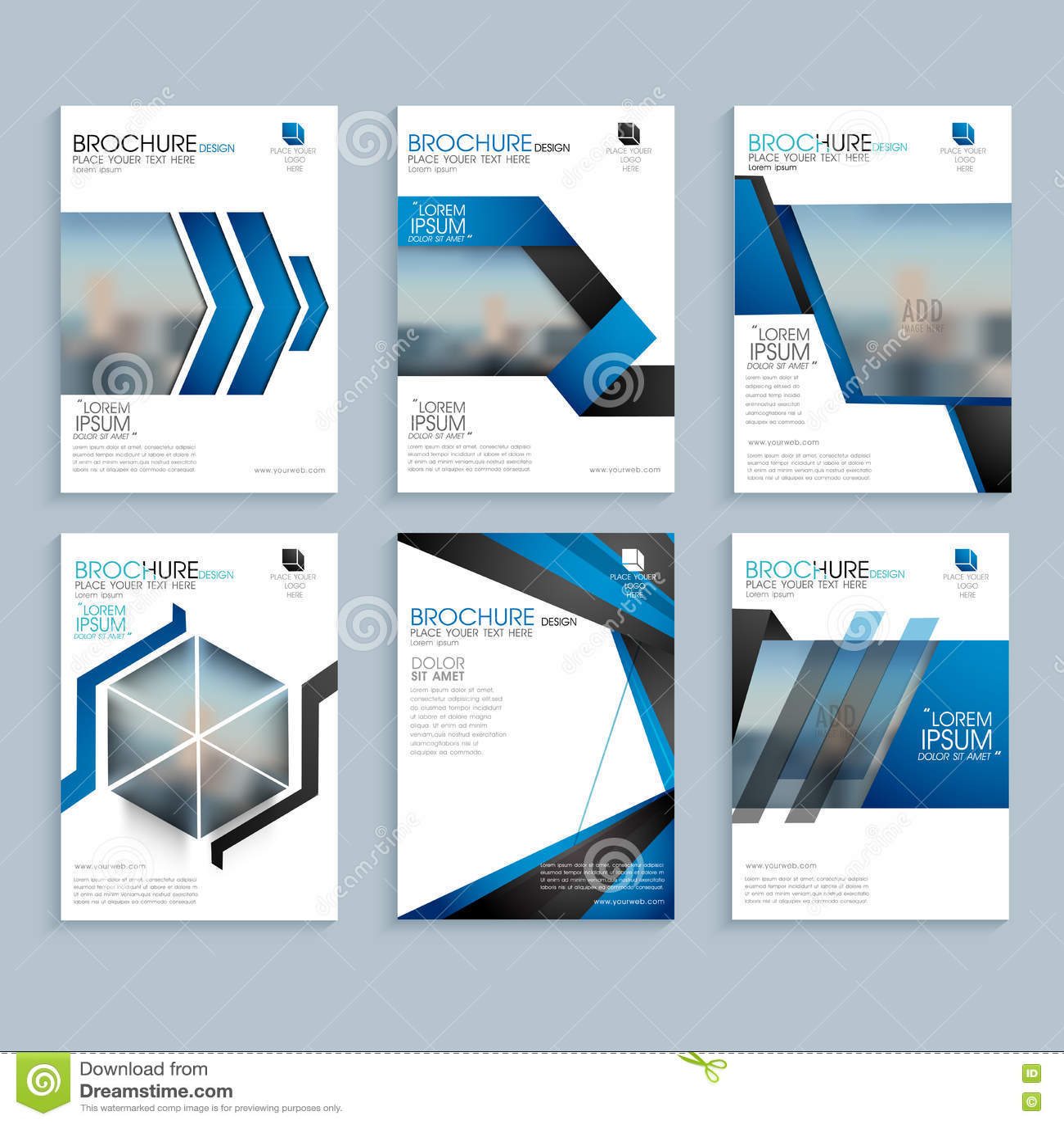 creative brochure template or flyer presentation stock