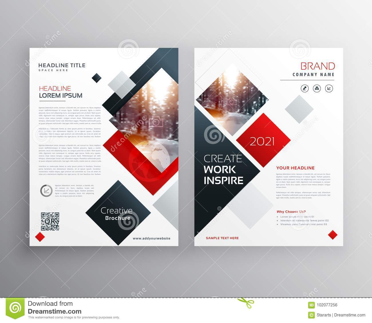 Creative Business Brochure Template Design In Size A4 Stock