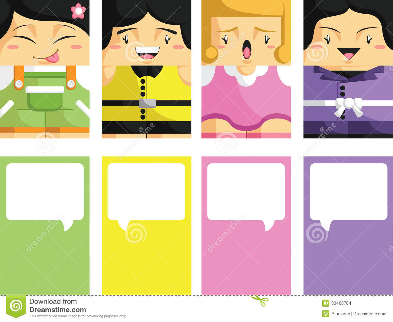 Creative business card with customizable illustrat stock for Cartoon business cards