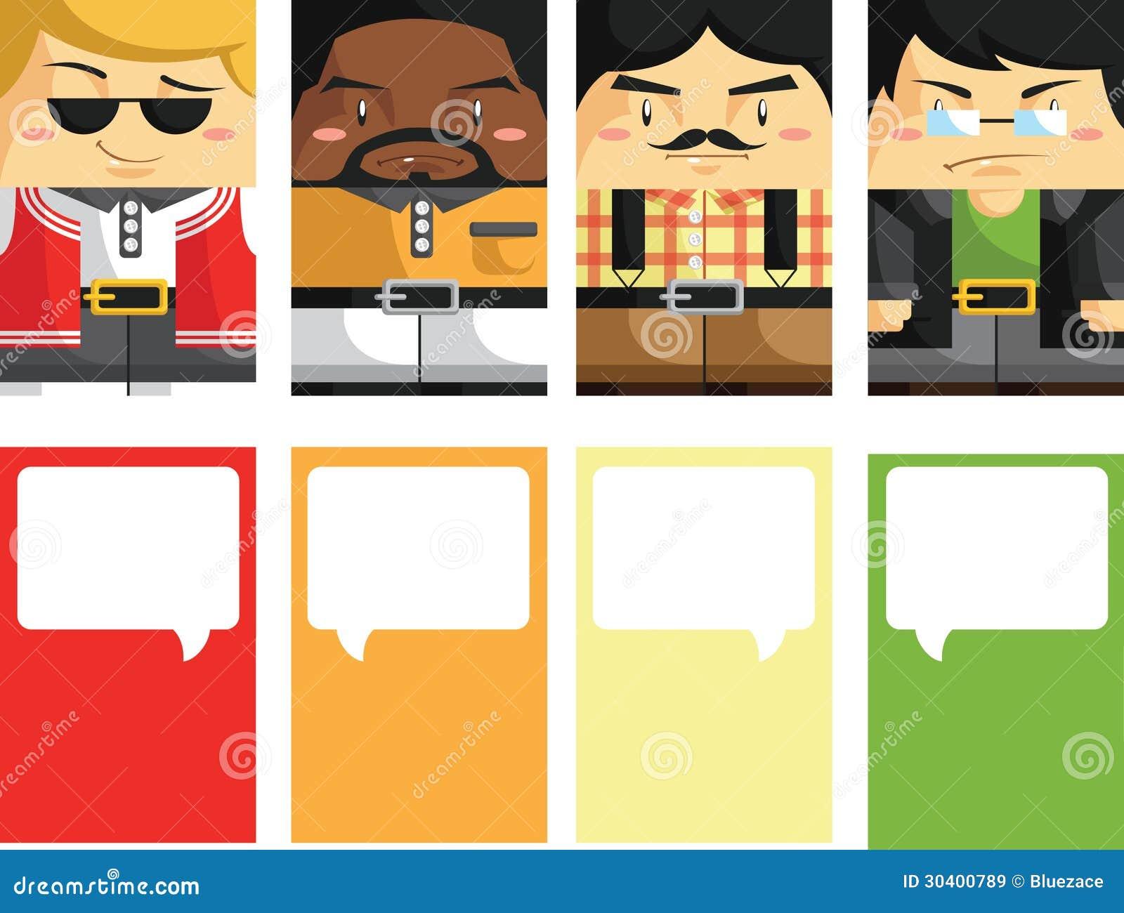 Creative Business Card With Customizable Illustrat Stock Vector ...