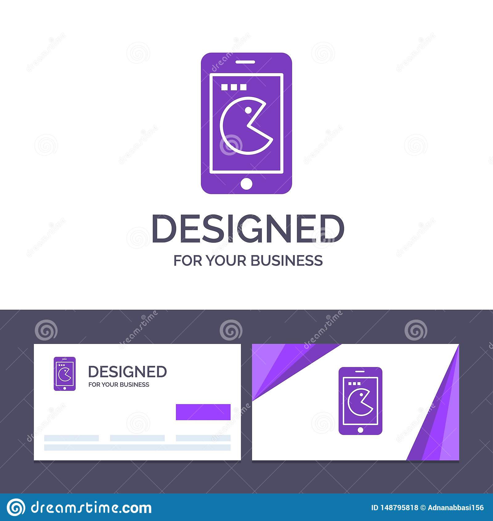 Creative Business Card and Logo template Buy, Mobile, Phone, Hardware Vector Illustration