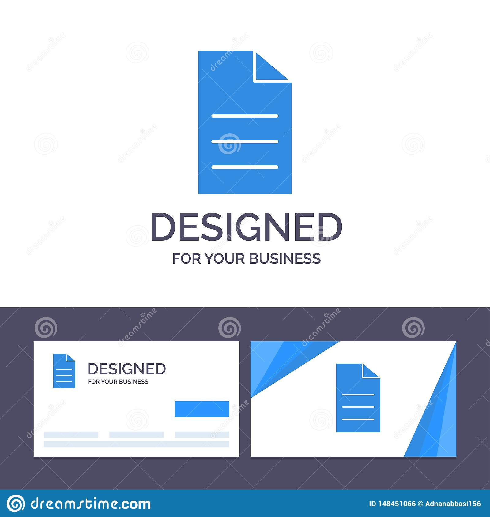 Creative Business Card and Logo template File, Data, User, Interface Vector Illustration