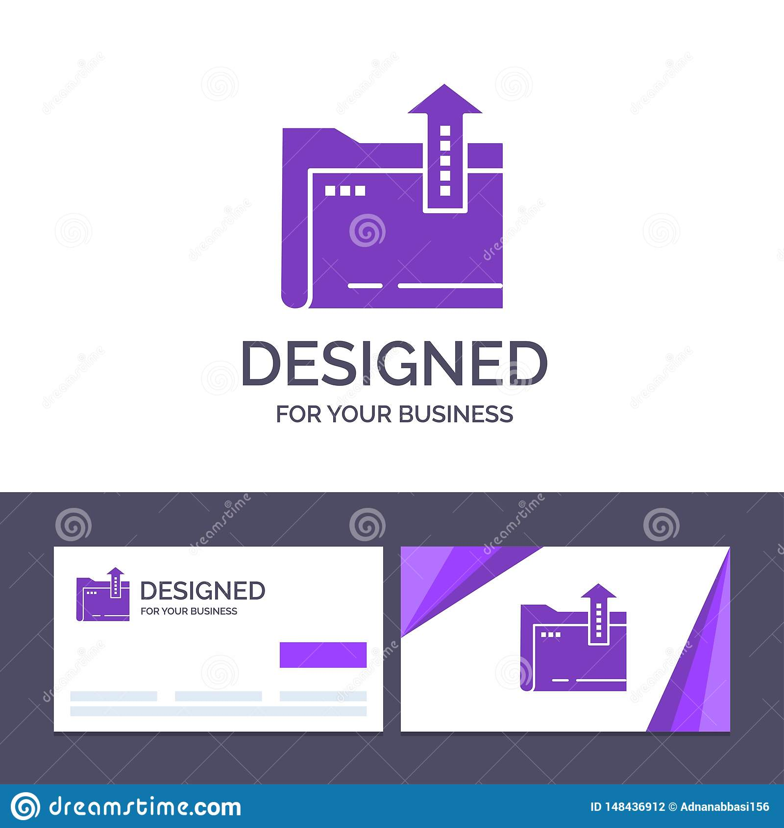 Creative Business Card and Logo template Folder, Document, File, Storage Vector Illustration