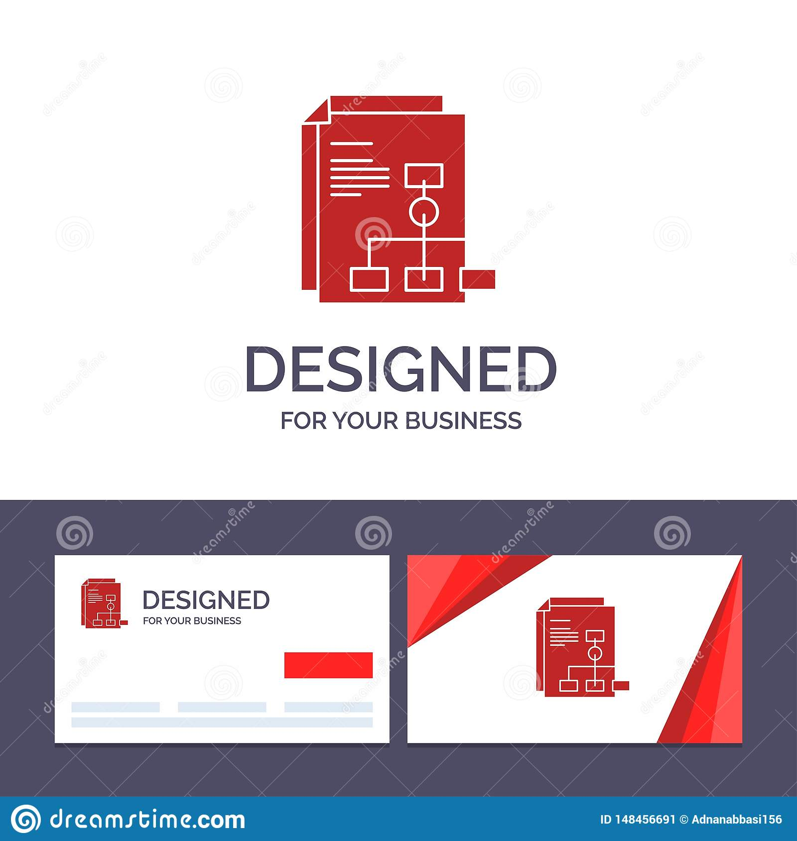 Creative Business Card and Logo template Presentation, Graph, Invoice, Report Vector Illustration
