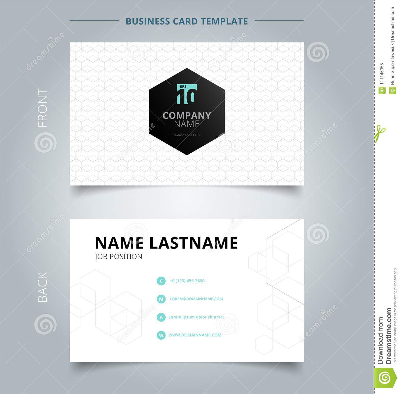 Creative business card and name card template geometric white g download creative business card and name card template geometric white g stock vector illustration reheart Choice Image
