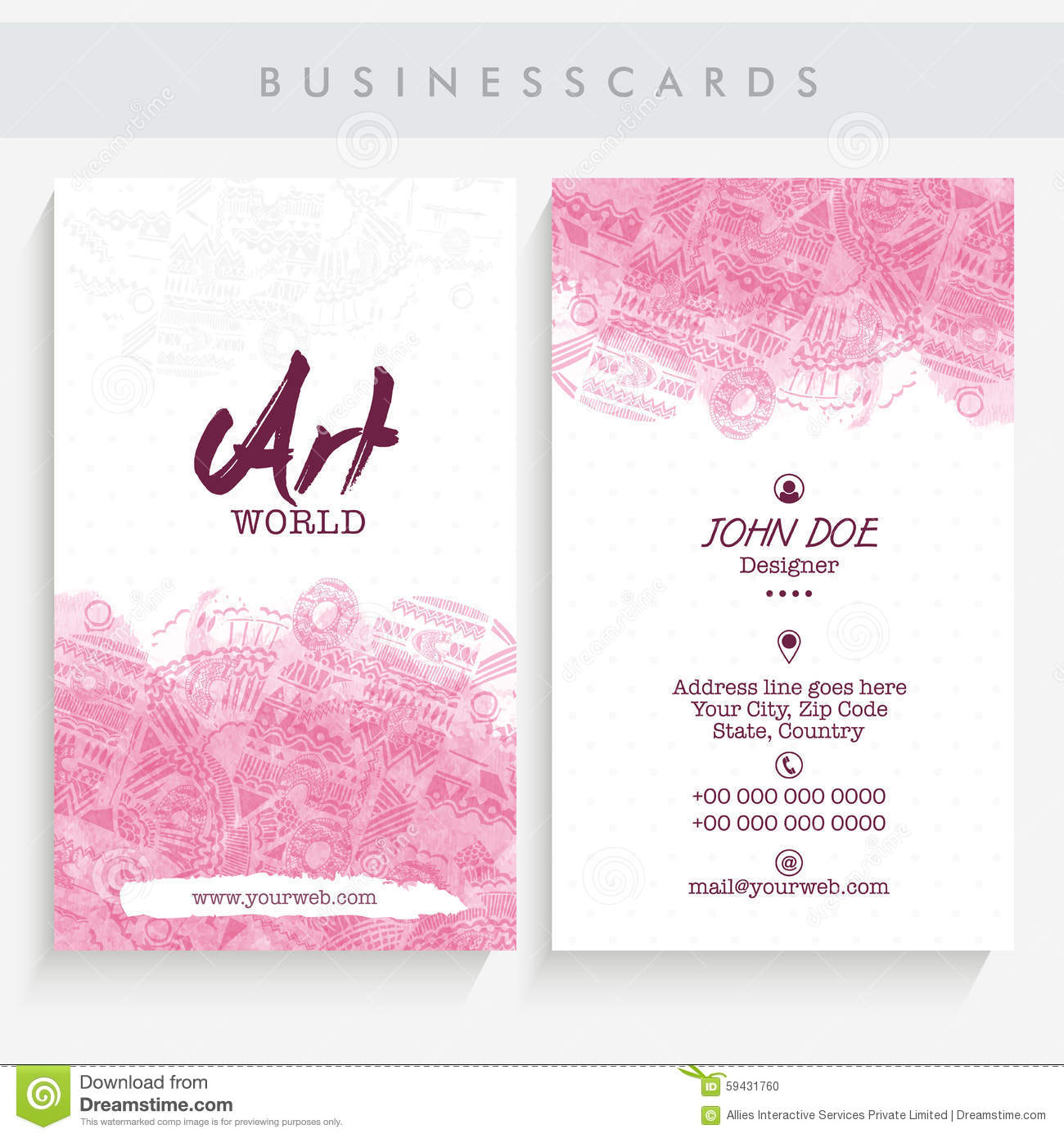 Creative Business Card Set. Stock Photo - Image of designer ...