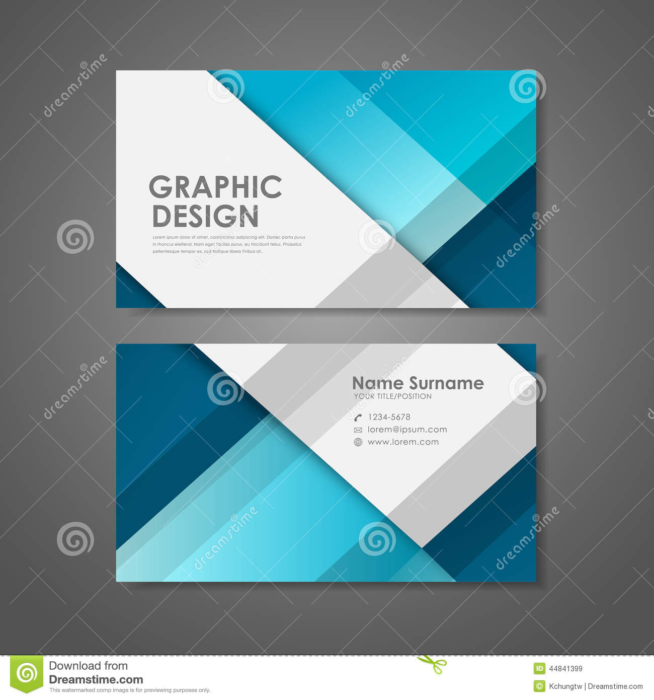 Creative business card template in blue stock vector for Blue business card template