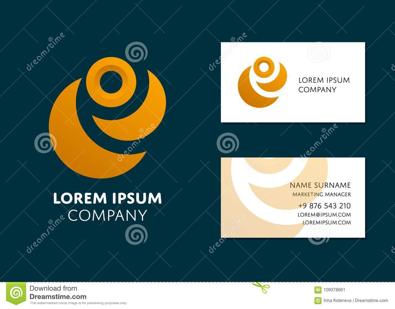 Business card template with yellow abstract logo stock vector download business card template with yellow abstract logo stock vector illustration of layout geometric colourmoves