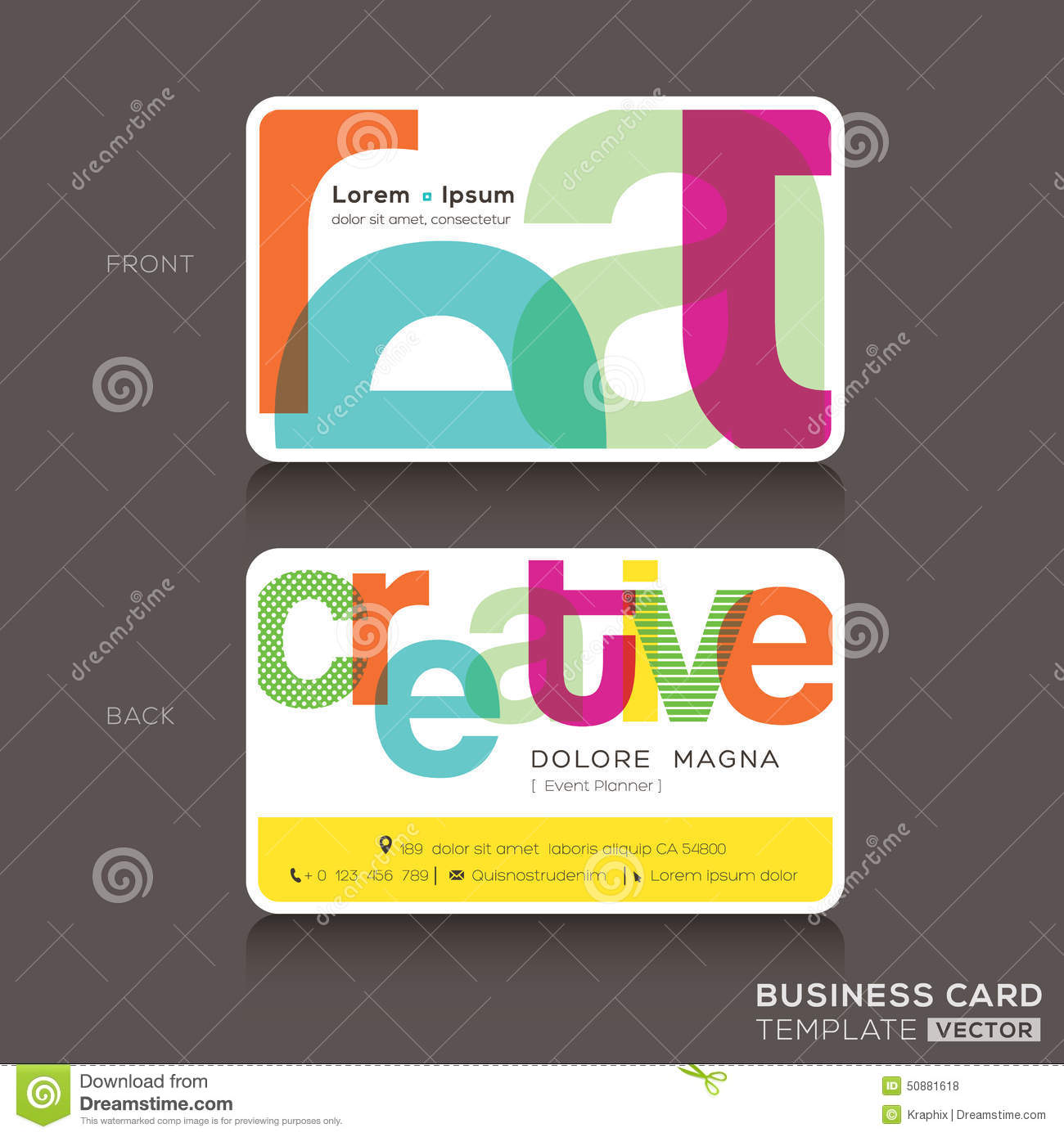 Creative Business cards Design Template layout.