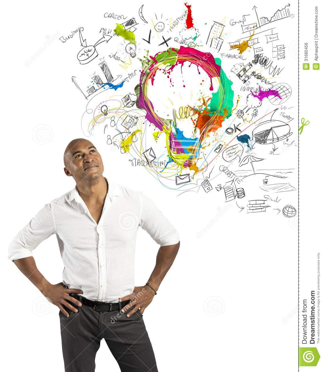 Creative business stock photo image of imagination for New idea images