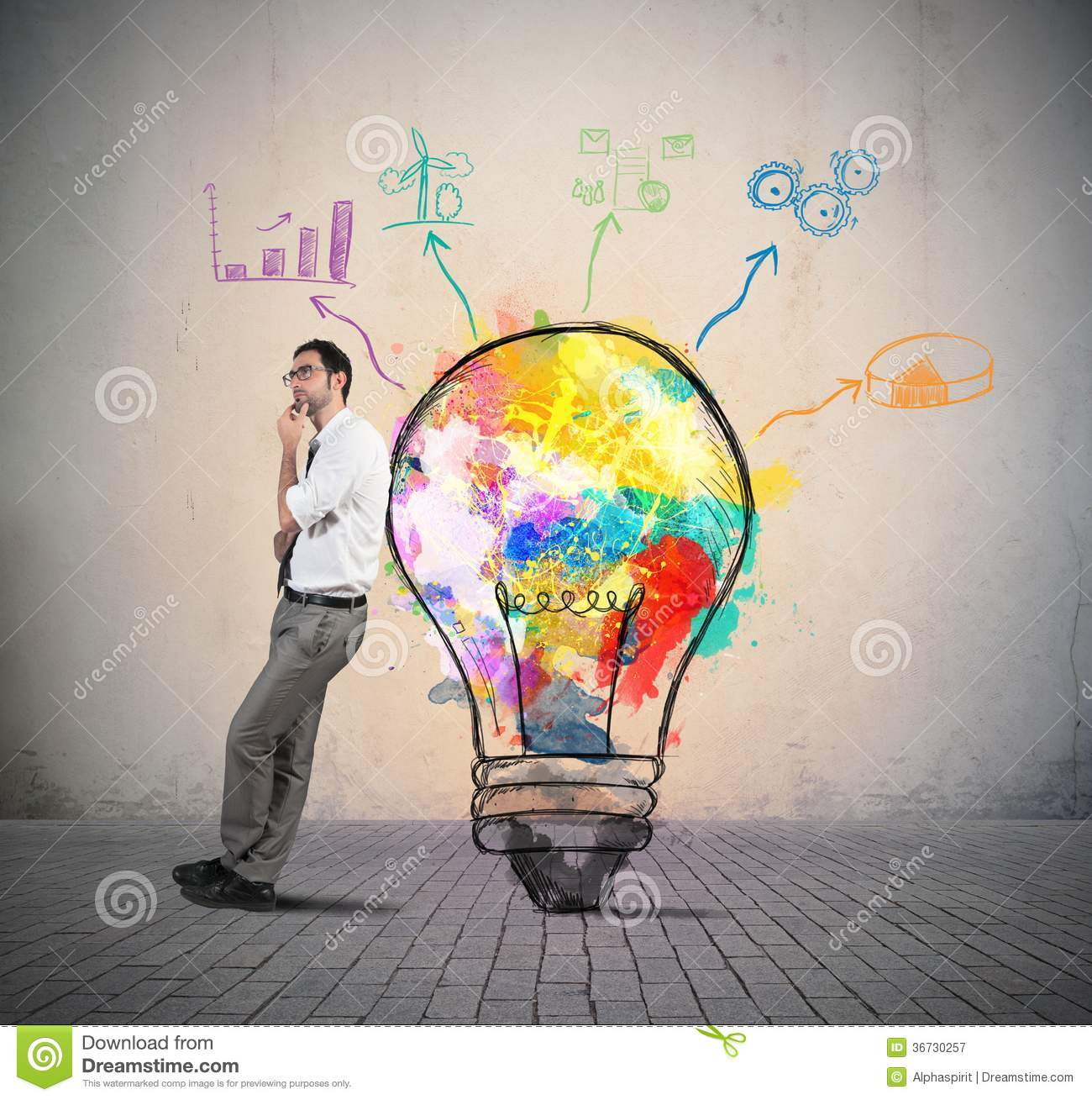 Creative Business Idea Stock Image Image Of Idea Object