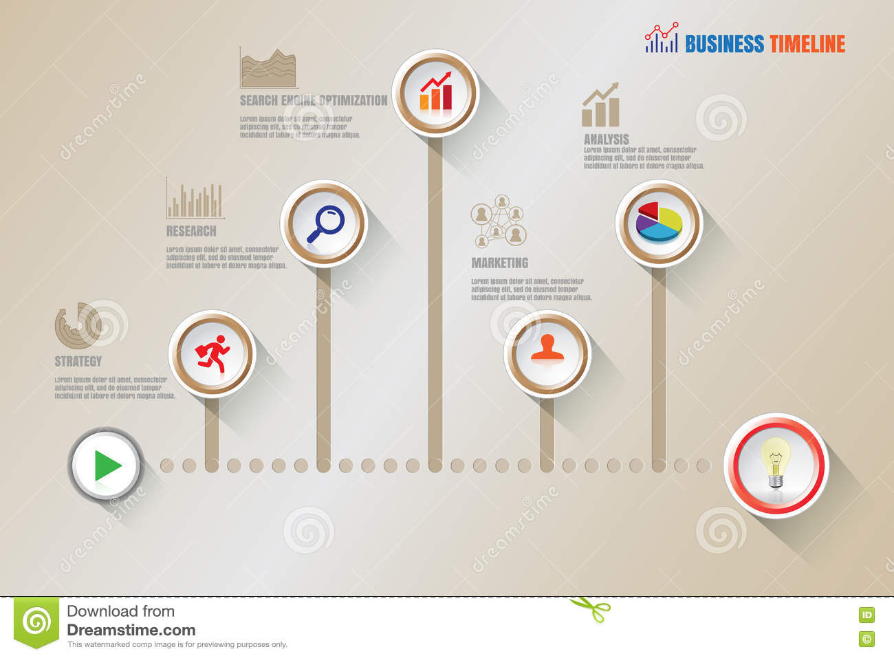 creative business timeline vector illustration stock vector