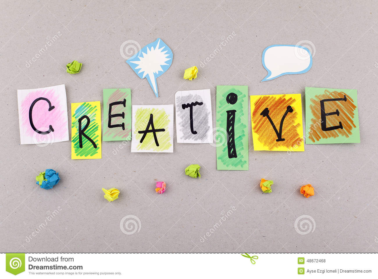 Creative Business Word For Creativity Imagination