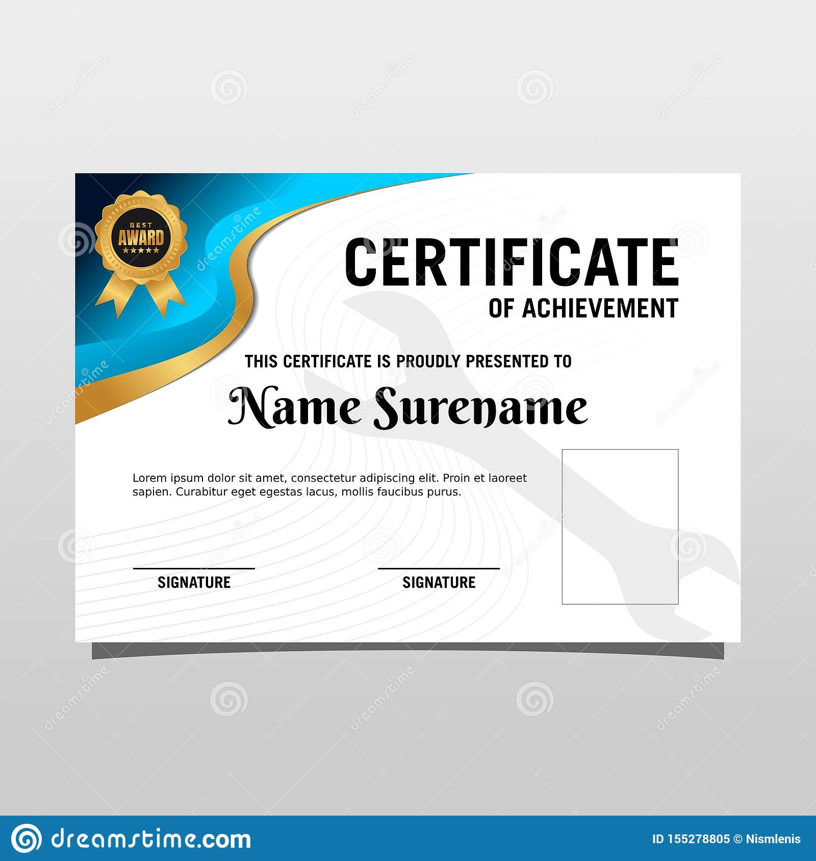 Creative Certificate Of Appreciation Award Template With Luxury And Modern Pattern Vector Illustration Stock Vector Illustration Of Construction Application 155278805
