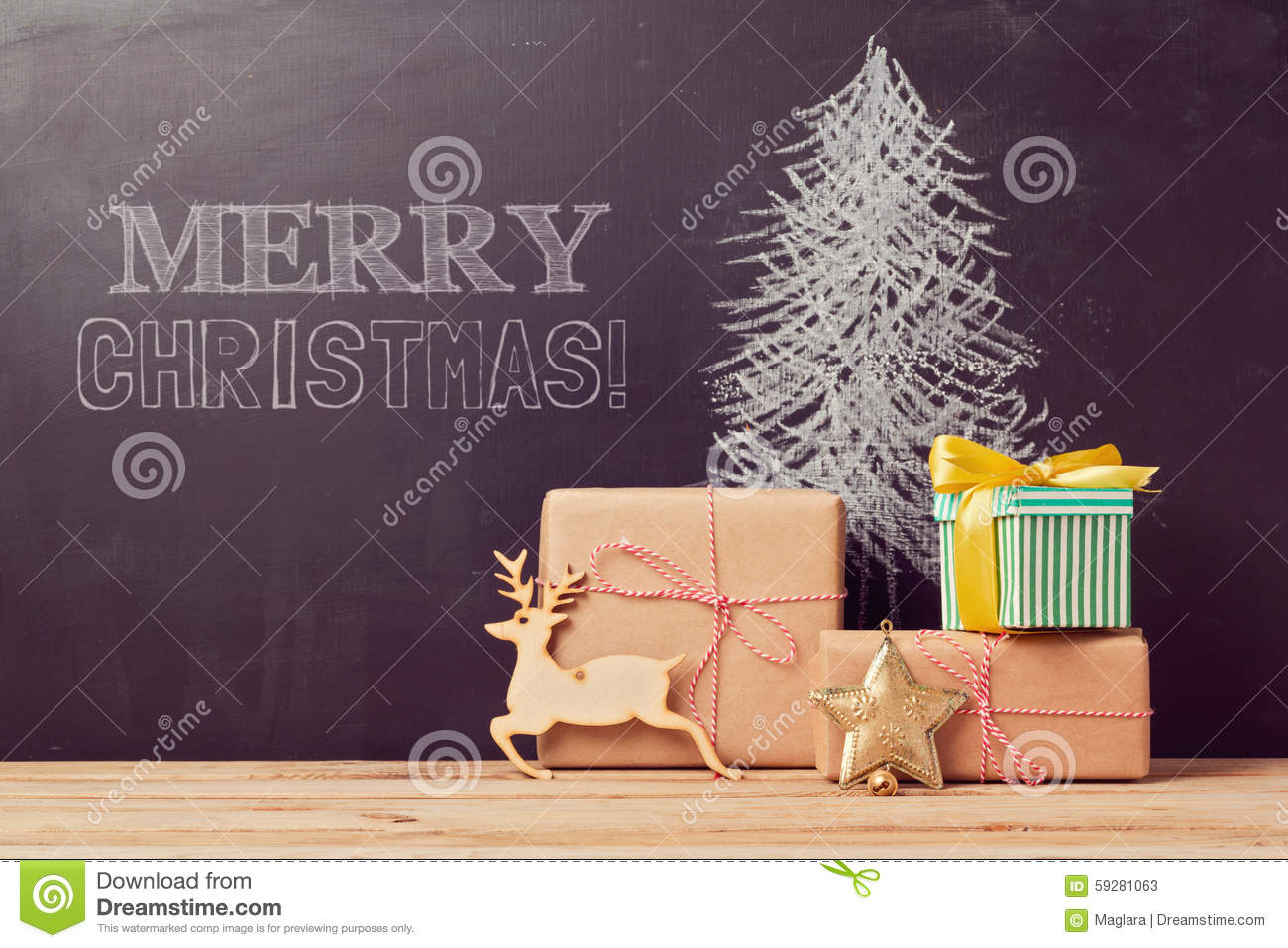 Creative christmas tree background with gifts stock image for Creative xmas gifts