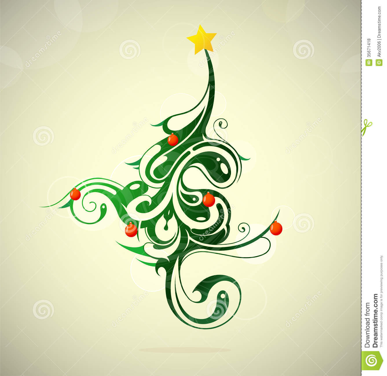 Creative Christmas Tree Clipart