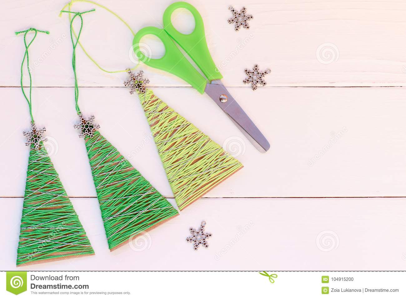 Creative Christmas Trees Decor On A Wooden Background Cheap Idea