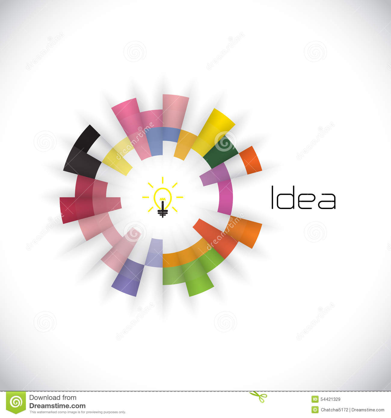 Creative Circle Abstract Vector Logo Design Template Corporate Royalty Free Stock Images