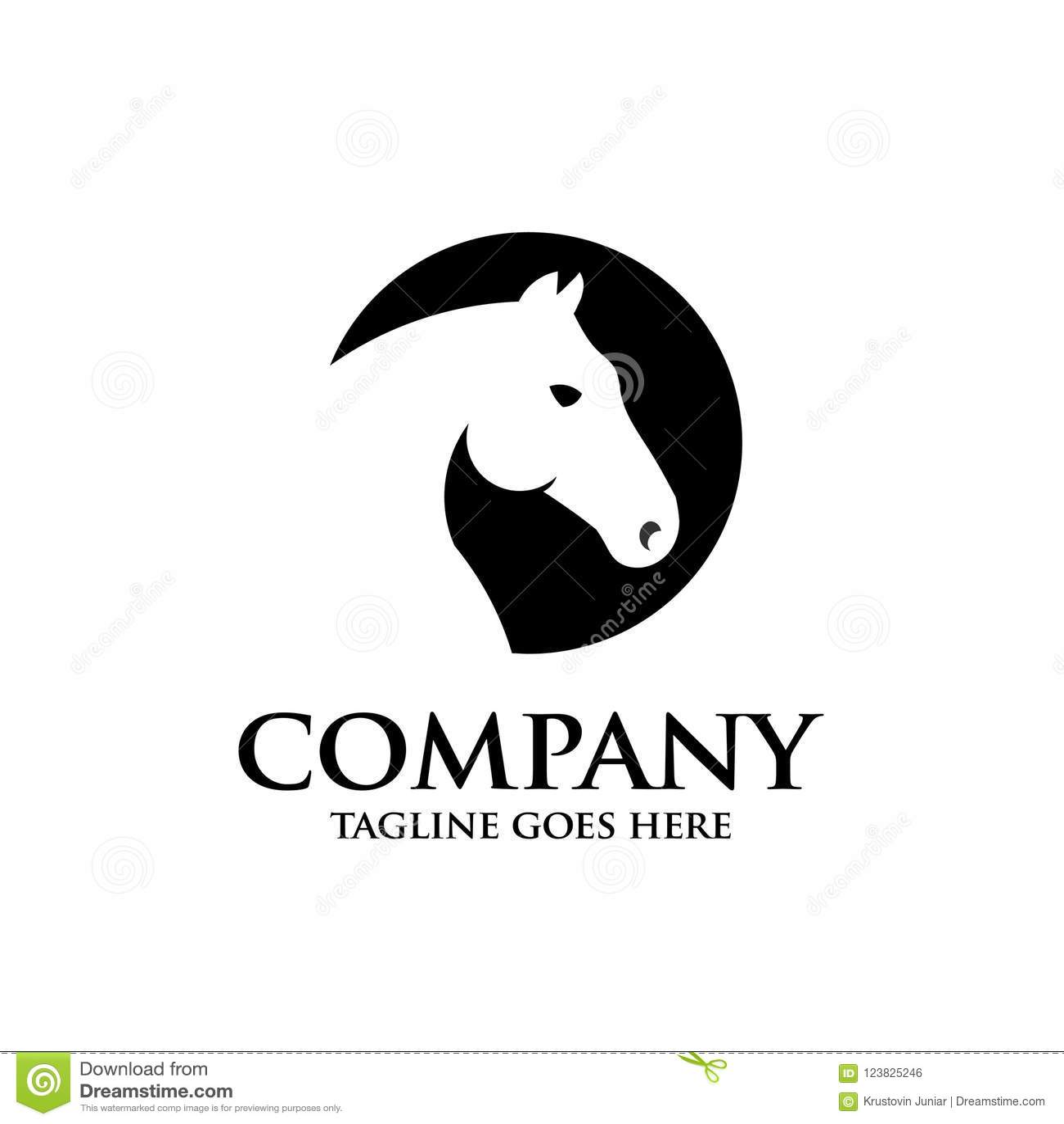 Creative circle horse head stock vector  Illustration of riding