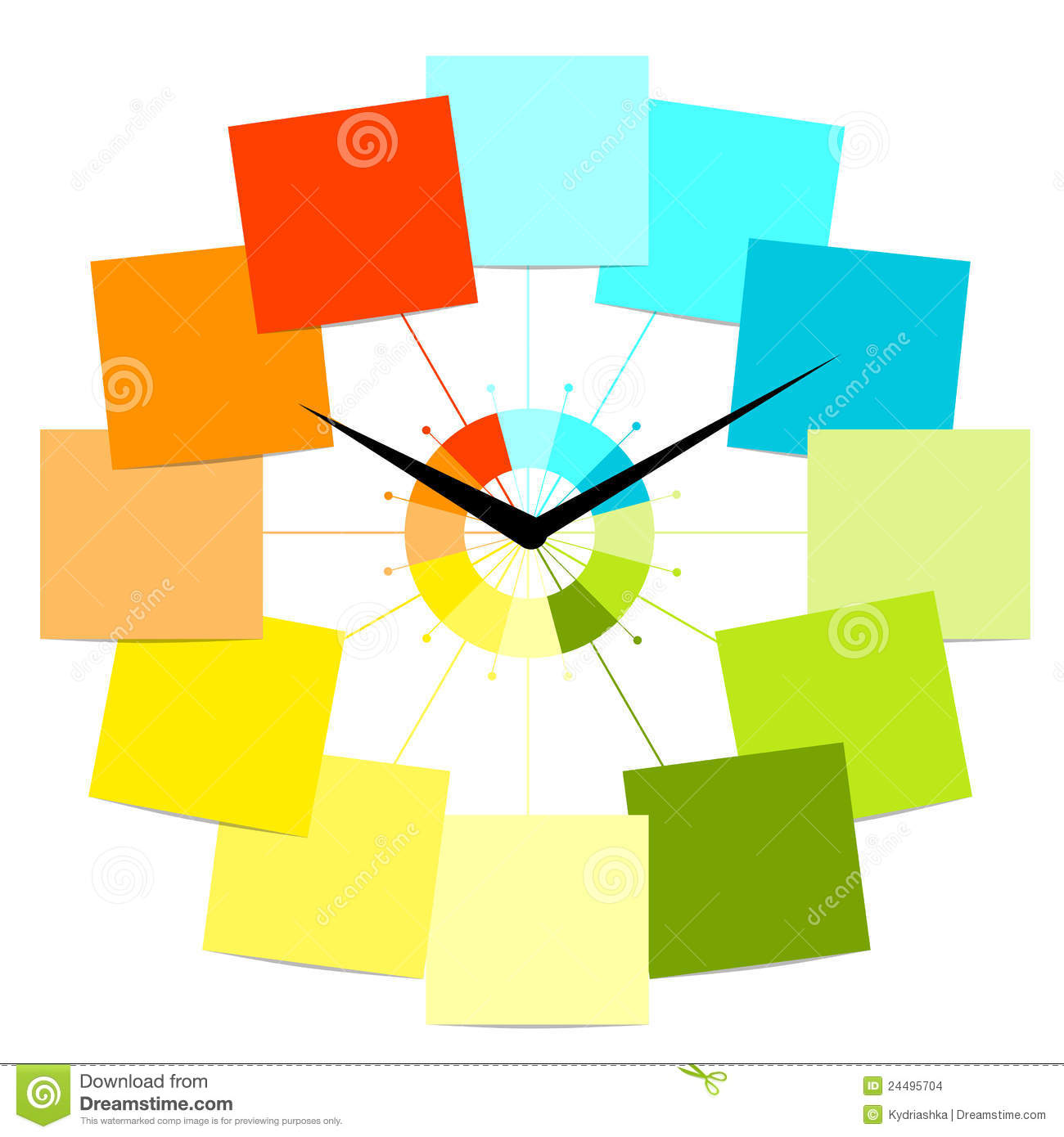 creative clock design with stickers for your text stock images  - creative clock design with stickers for your text stock images