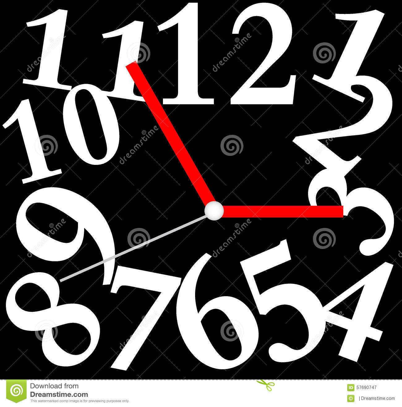 Creative Clock Face Design Stock Vector Image 57690747