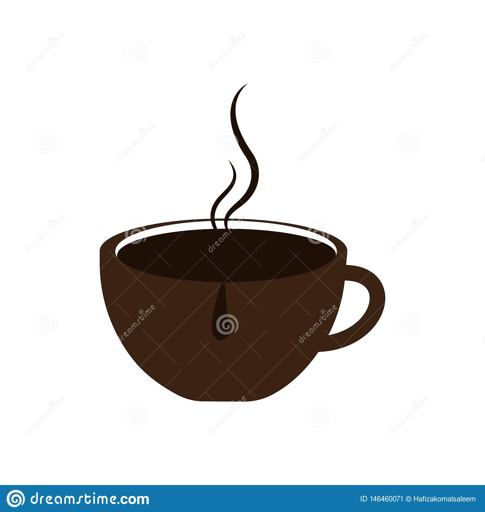Creative Coffee Cup Logo Design Illustration Stock Vector ...