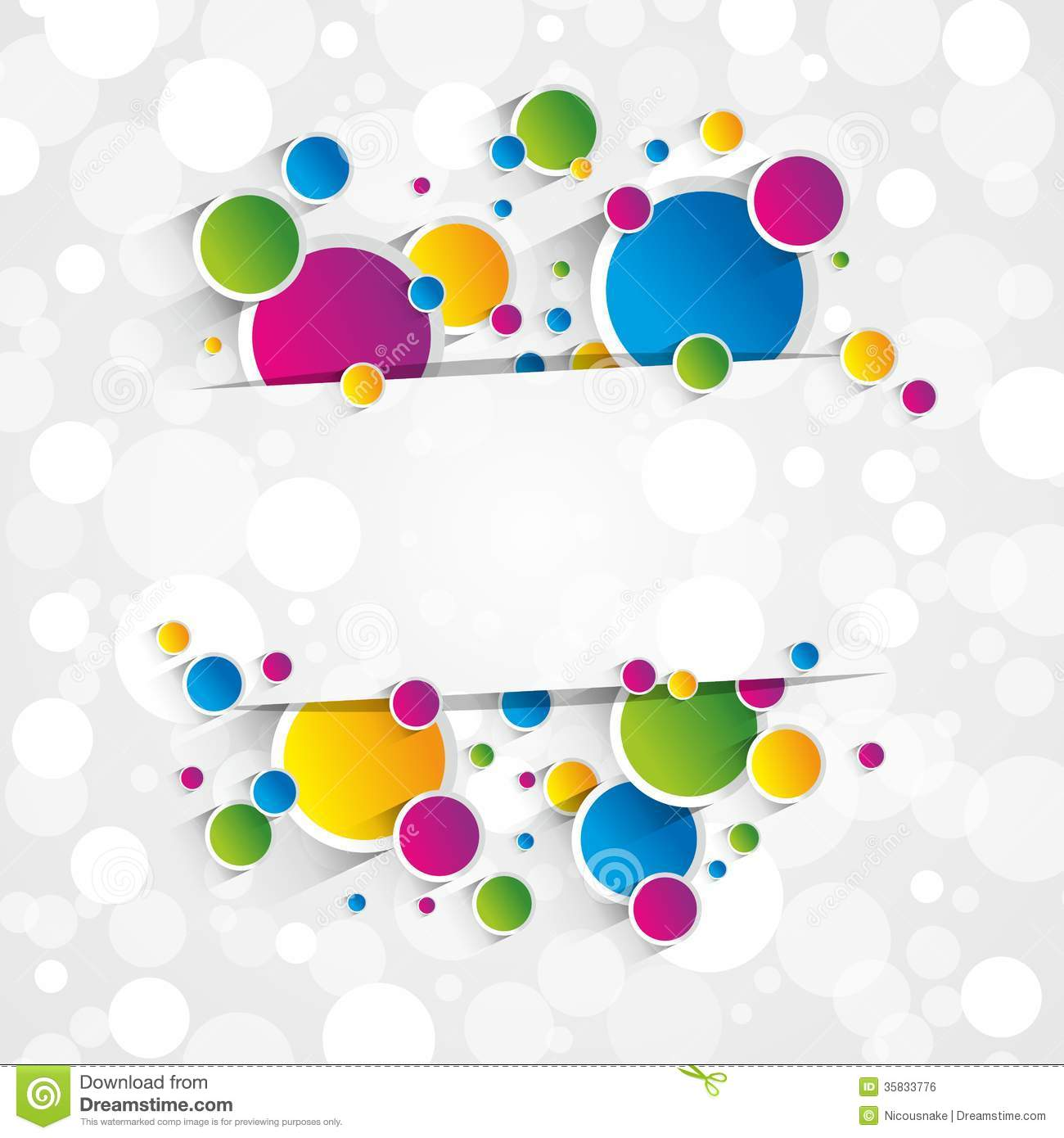 Creative Wallpapers: Creative Colorful Circles Background Stock Vector