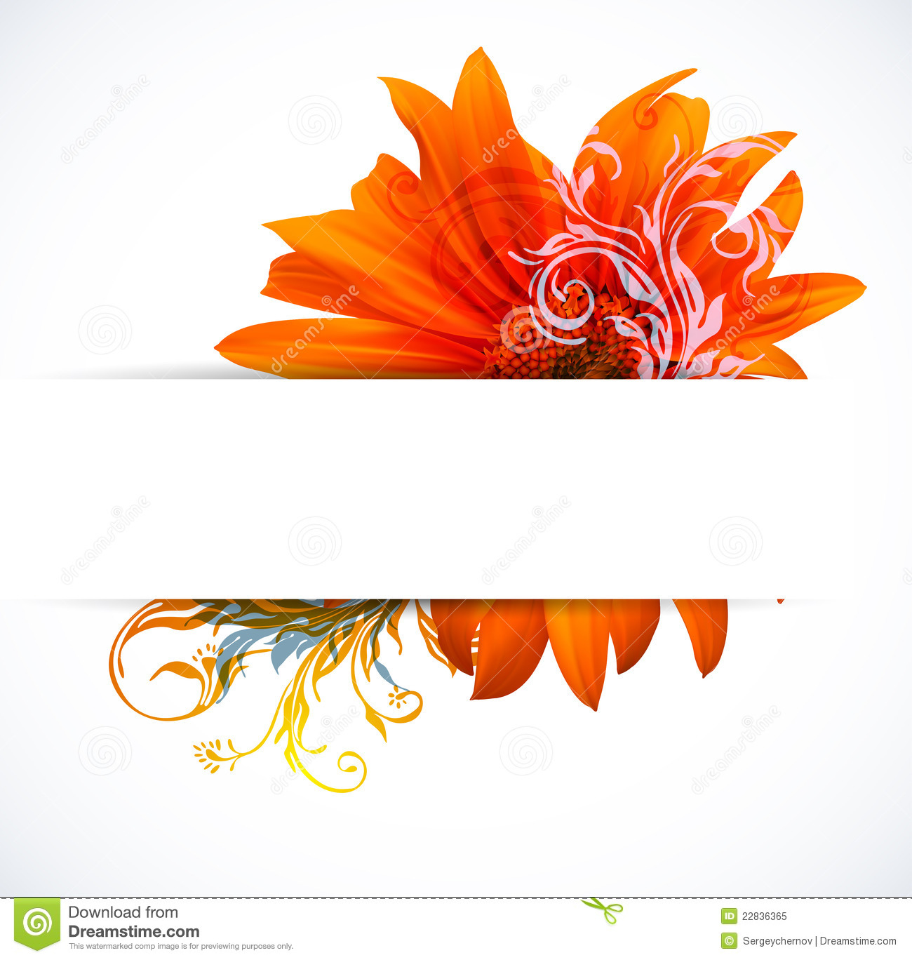 Creative Colorful Flower Background Royalty Free Stock