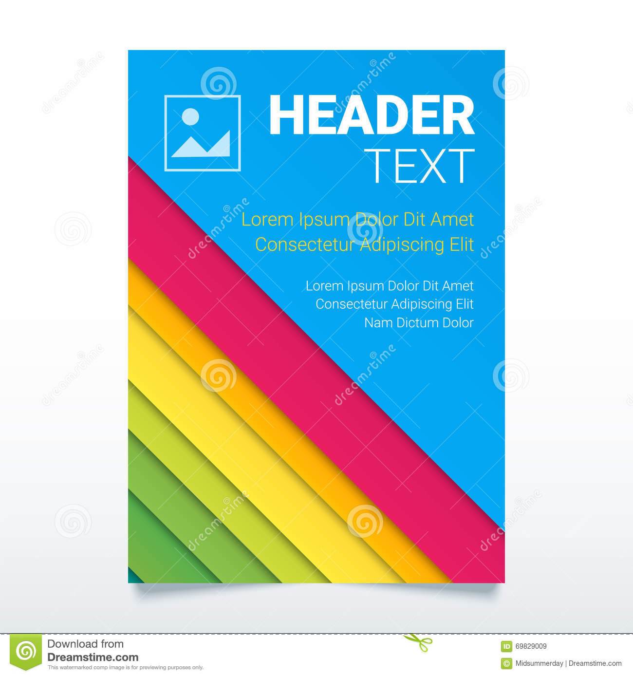 Creative colorful flyer vector template in a4 size modern for Colorful brochure templates