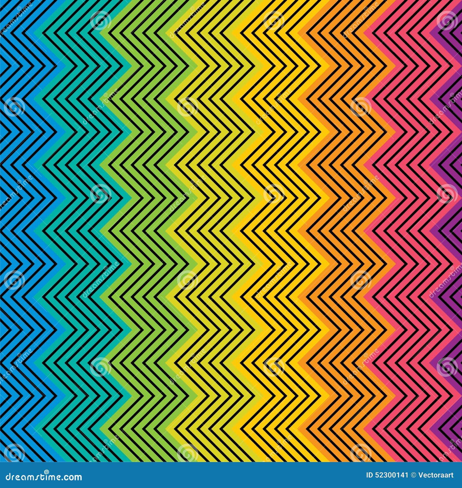 creative colorful zig zag design pattern stock vector image 52300141. Black Bedroom Furniture Sets. Home Design Ideas