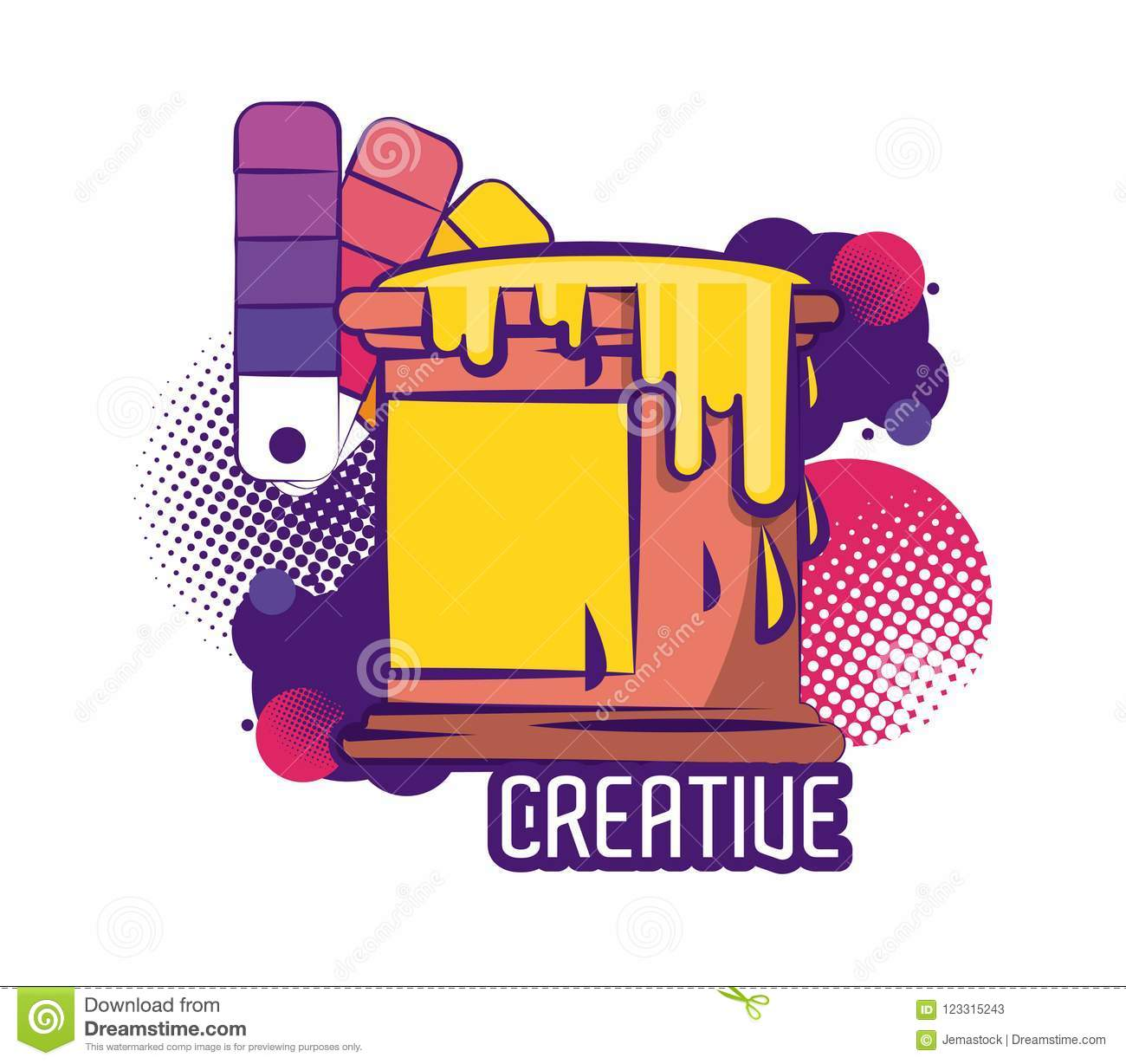 creative colors and ideas stock vector. illustration of think
