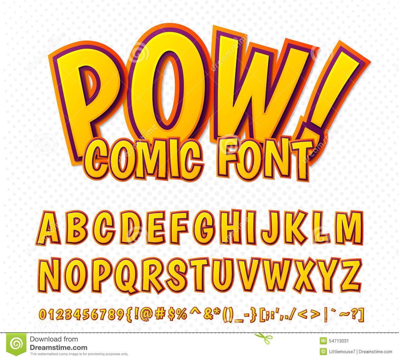 Conosciuto Creative Comic Font. Vector Alphabet In Style Pop Art Stock Vector  DM39
