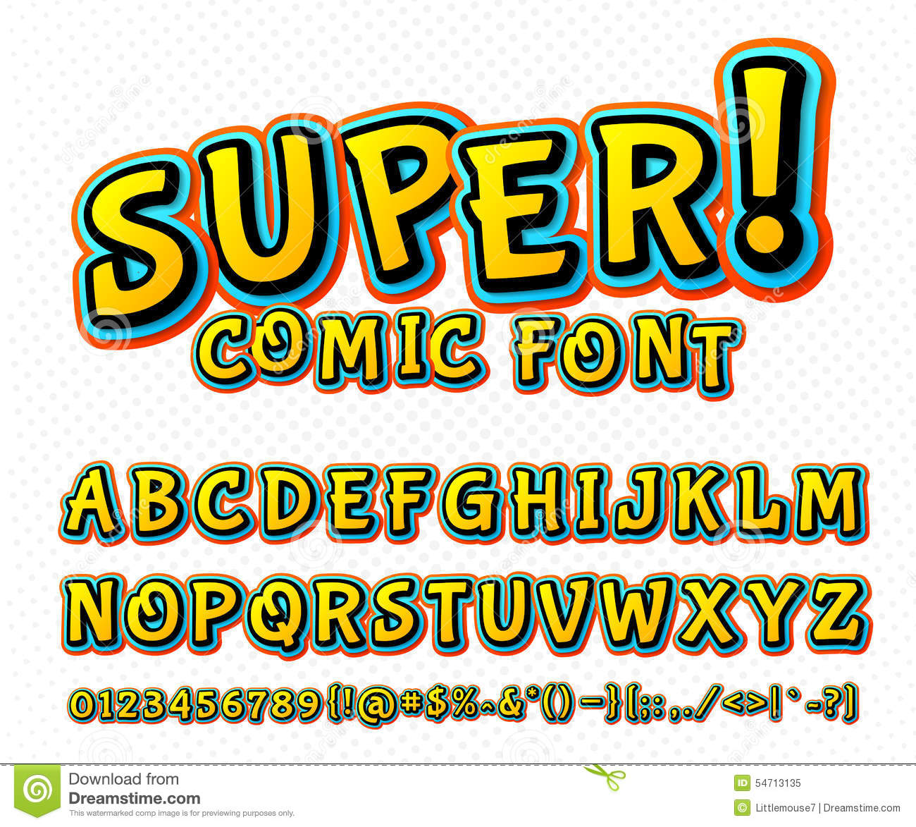 spesso Creative Comic Font. Vector Alphabet In Style Pop Art Stock Vector  SJ98
